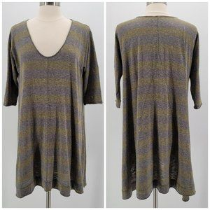 Free People We The Free Green Gray Oversized Top M